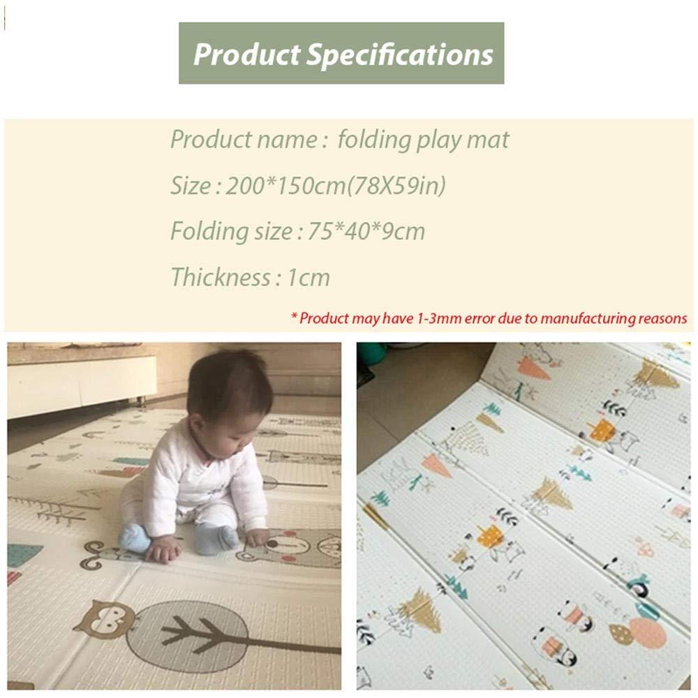 150 NO BRAND Axy Kids Play Mat Plegable Juego Puzzle Estera del Coj/ín del Juego For Beb/és 200 1 Cm Habitaci/ón del Beb/é Estera Esteras Plegable Ambiental Espuma Estera De Arrastre
