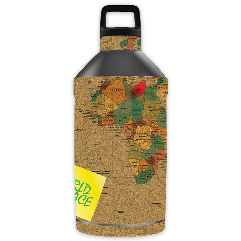 MightySkins Skin for OtterBox Elevation Tumbler 64 oz - World Peace | Protective, Durable, and Unique Vinyl Decal wrap Cover | Easy to Apply, Remove, and Change Styles | Made in The USA