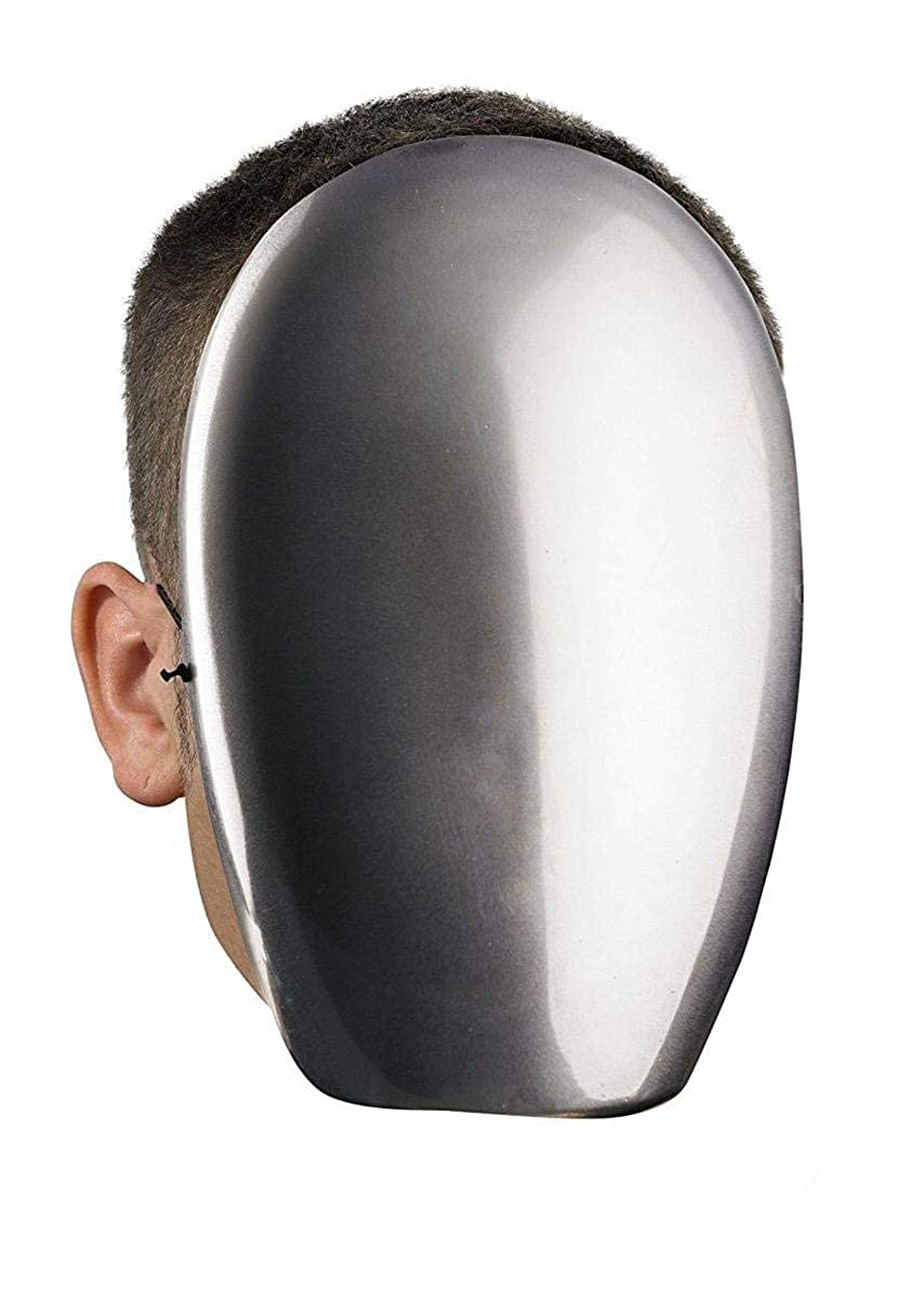 Disguise - No Face Chrome Mask DIS39340 Accessory Consumer Accessories