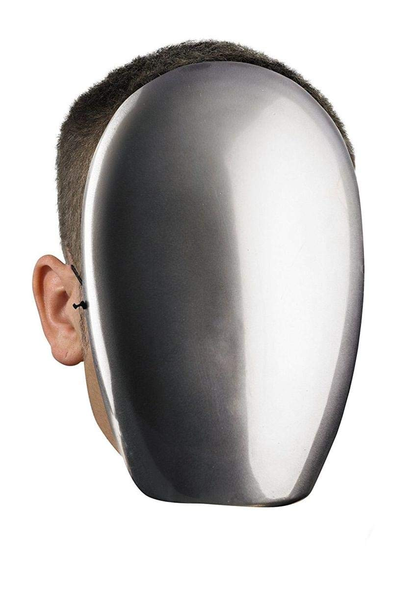 Costumes No Face Chrome Mask, Adult