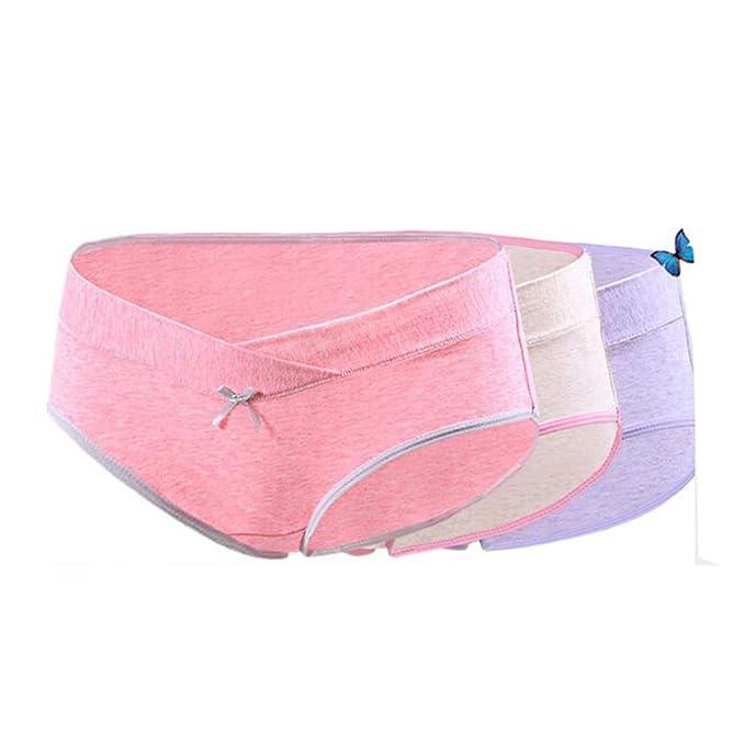Juleya 3 Unids/Lote Ropa Interior de Embarazo y Maternidad U-Shaped Low Waist Ropa de Mujer Ropa Interior Embarazada Briefs Bragas de Maternidad: Amazon.es: ...