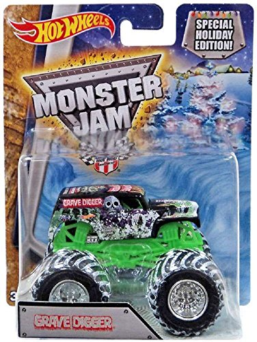 Hot Wheels Monster Jam Snow Tires 1:64 2017 Special Holiday Edition 25th Anniversary (Grave Digger)