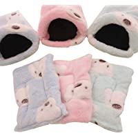L, Pink Hedgehog YuamMei 1pc Soft Squirrel Guinea Pig Small Animals Comfortable Round Fleece Warm Hamster Bed Sleep Mat for Rat