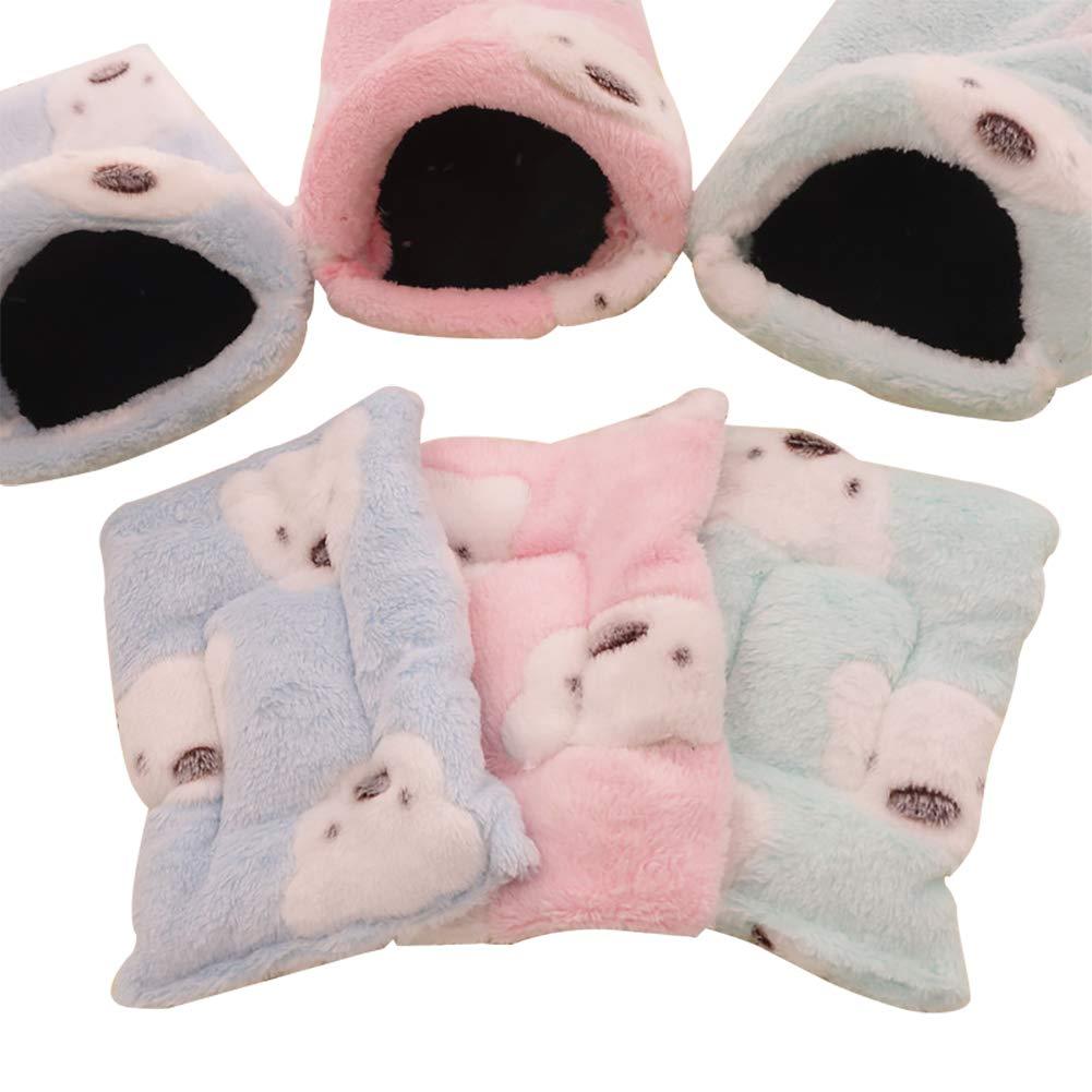 Cama cálida para Mascotas con diseño de Animales pequeños y Cama Suave para hámster, Jaula para cobaya, Erizo, Rata, Chinchillas HCWW02: Amazon.es: ...