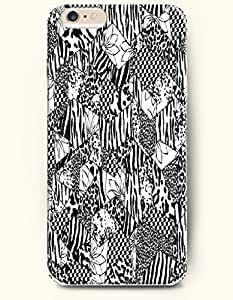 Black And White Leopard Grain Zebra Print With Geometric Pattern - Animal Print - Phone Cover for Apple iPhone 6 Plus ( 5.5 inches ) - OOFIT Authentic iPhone Case