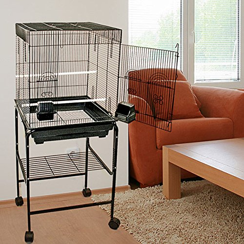 (Anini Apartment Flattop Bird Cage with Stand - 18