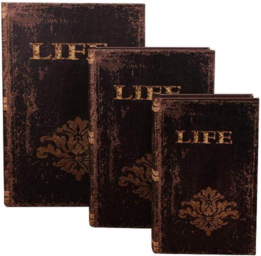 Cokeymove Libros de imitación Decorativos con Caja Oculta Secreta ...