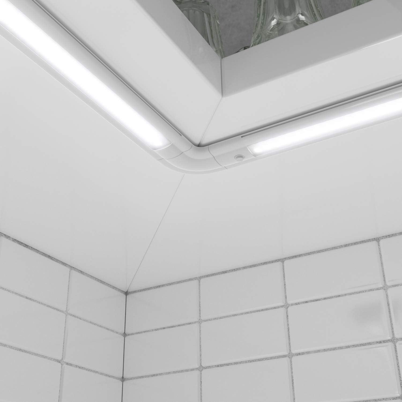 ledscom.de LED Unterbau-Leuchte SIRIS weiß matt, flach, 90cm, 820lm, weiß 3er Set 3er-Set