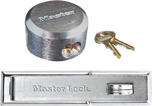 4 Hidden Shackle Lock Trailer Padlock Hasp Keyed Alike