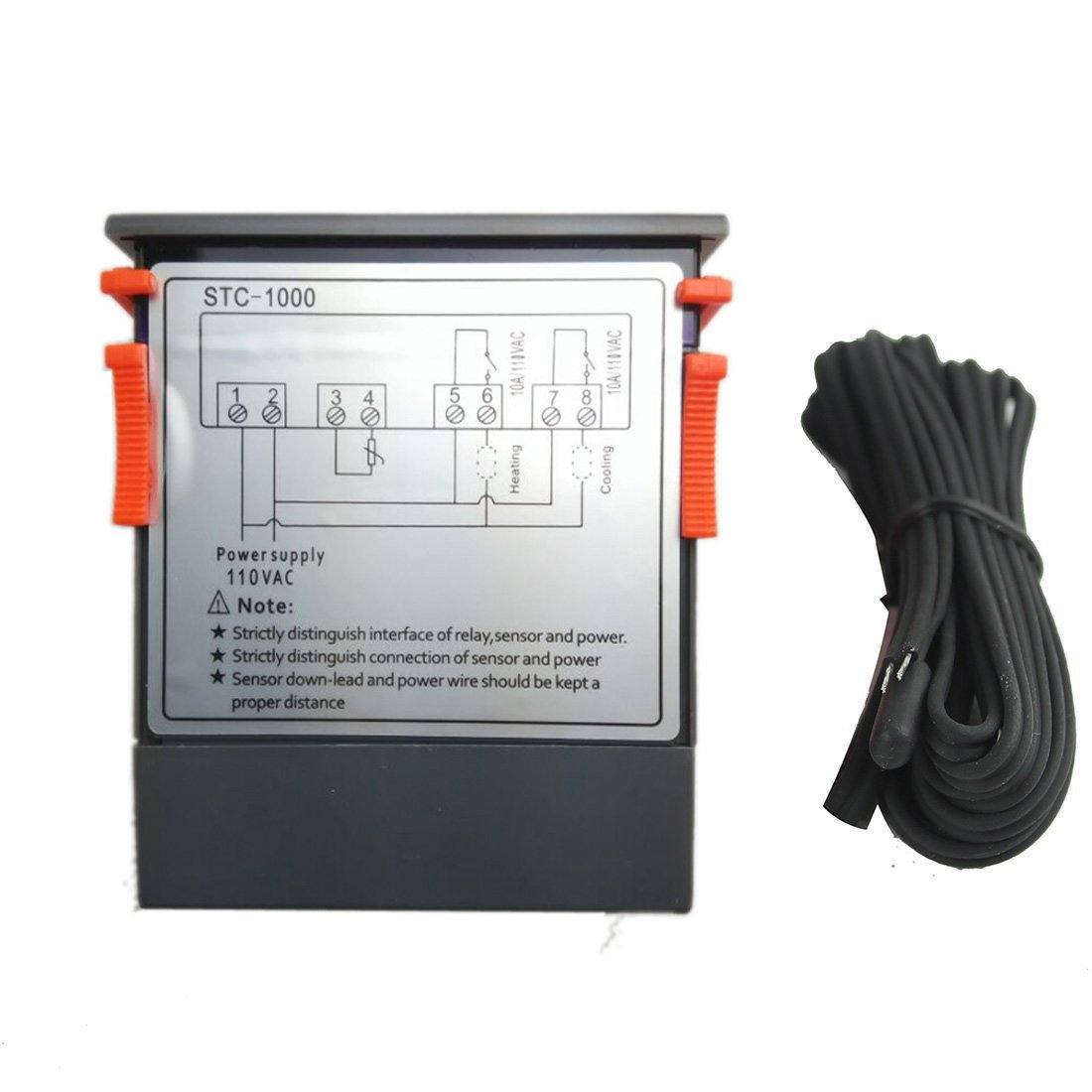 61MDHmWXvsL._SL1100_ lerway 110v all purpose temperature controller sensor 2 relay 4 Pin Relay Wiring Diagram at edmiracle.co
