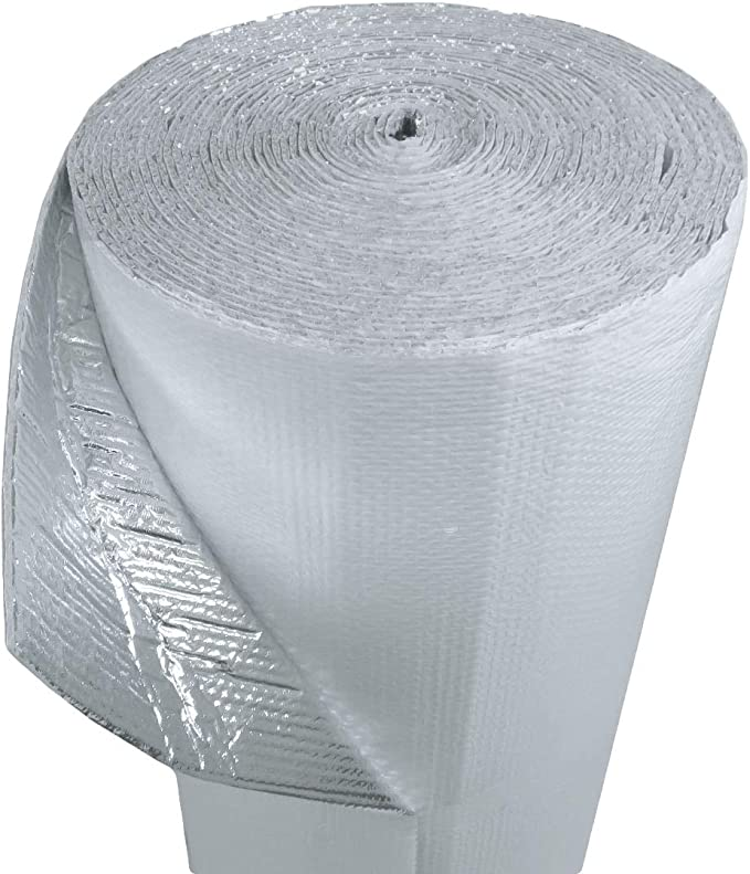 """24/"""" x 10/' Roll Reflective Foil Double Bubble Foil Insulation"""