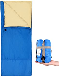 Ohuhu Envelope Sleeping Bag, Backpacking, Lightweight, Portable and Waterproof with Compression Sack -