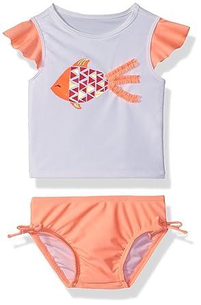 685369f88d52b Amazon.com: Crazy 8 Toddler Girls' Fish Rashguard Set: Clothing