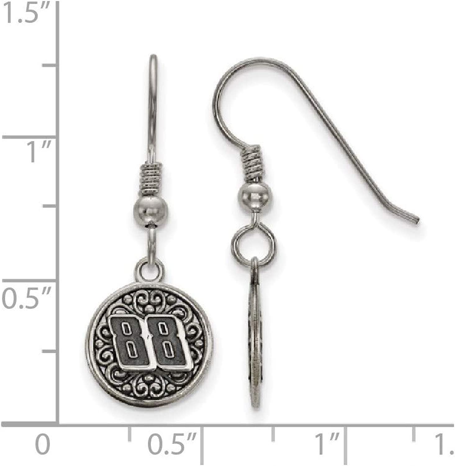 Stainless Steel 88 Bali Type Round Dangle Earrings