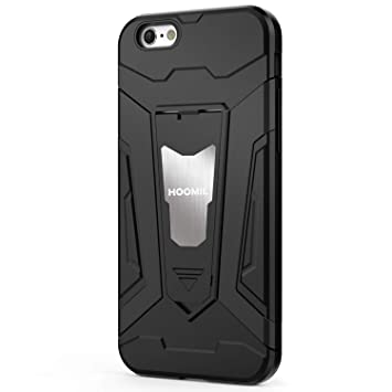 3cd3ce1e016 HOOMIL Funda iPhone 6,Funda iPhone 6S Negro Armor Funda para Apple iPhone 6/6S  Carcasa Shock-Absorción Silicona Case: Amazon.es: Electrónica