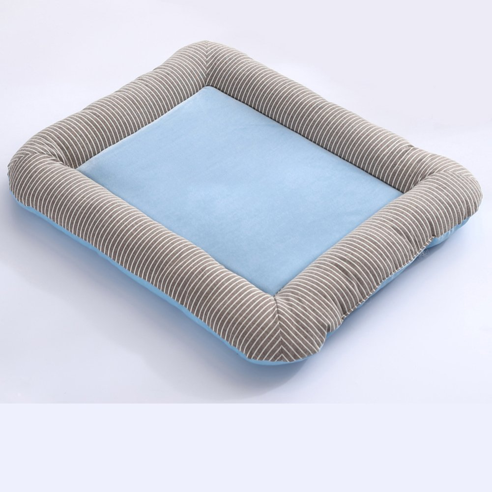DSAQAO Plush pet dog bed cushion, Square Pet supplies Basket bed cushion-A XL 80x65cm(31x26inch)
