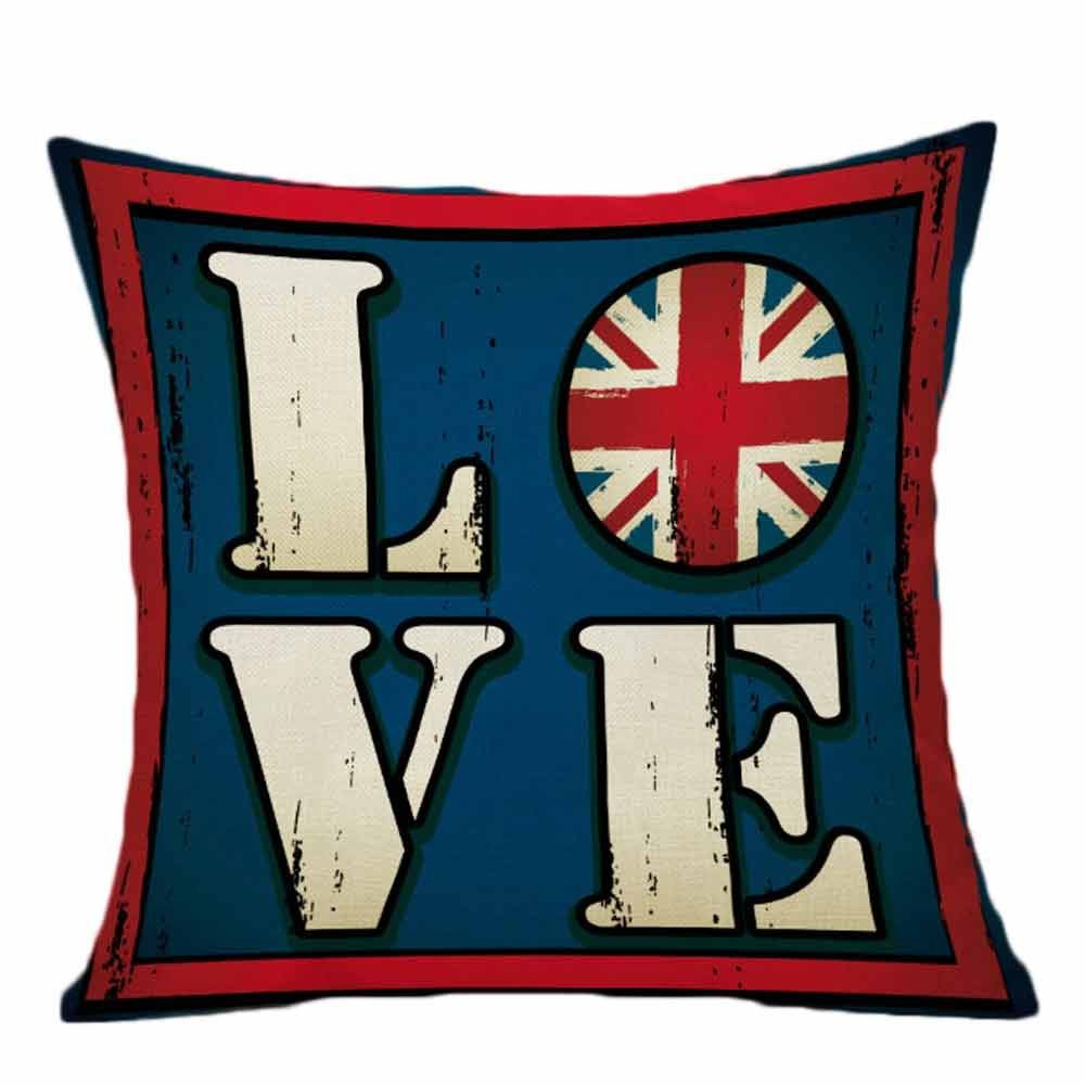 Pgojuni National Flag Sofa Bed Home Cushion Cover Throw Pillow Cover Accent Cushion Cover Square Pillow Case for Sofa/Car/Bed 1pc (I)