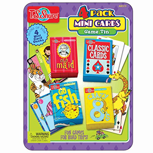 Mini Card Game Tin (4 Pack) Go Fish Tin