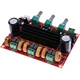KKmoon Amplificador de potencia de Audio de amplificación, TPA3116D2 50 * 2 Vías, 100W, 2,1 Subwoofer-24 V, CC 12 V
