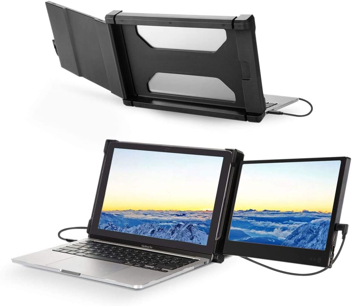 Teamgee Portable Monitor for Laptop, Monitor Extender for Dual Monitor Display,Laptop Screen Laptop Workstation Portable Monitor HDMI/1080p/13-17 inches Mac Windows Chrome Laptop (Dual Monitor)