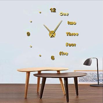 Wmbz 1 Pieza Moderna Decoración De Arte En Pared DIY Reloj De Pared Grande Letras Inglesas