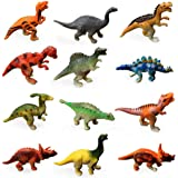 "LEZHI 12 Pack 1""-2.5"" mini Dinosaur Toys - Kids Realistic Toy Dinosaur Figures for Cool Kids and Toddler Education"