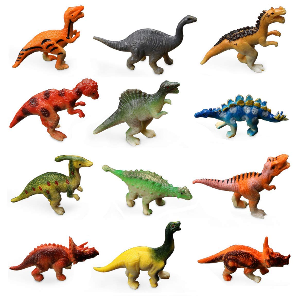 Brown Wildlife Dinosaur Model Toy Realistic Animal Action Figure Toys for Kids and Toddlers Education Zooawa Figure Triceratops Dinosaur Toy
