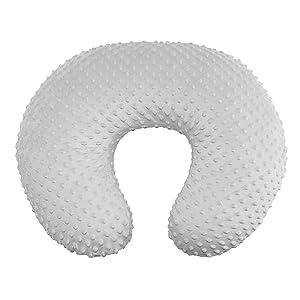 Owlowla Minky Nursing Pillow Cover, Breastfeeding Pillow Slipcover Fits Nursing Pillow for Baby Boy Girl(Silver Gray)