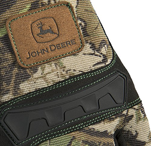 West Chester John Deere JD00011 Anti-Vibration High Dexterity Synthetic Leather Palm Knuckle Work Gloves: Camo, X-Large, 1 Pair by West Chester (Image #3)