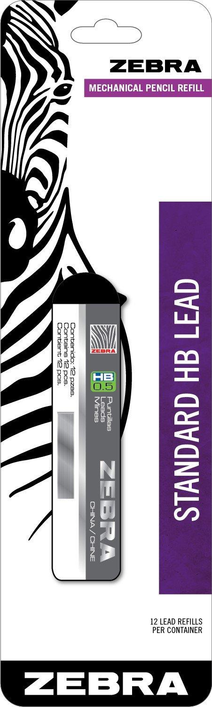 Zebra Standard HB Lead Mechanical Pencil Refill, 0.5mm, 1 Pack (99511) by Zebra Pen (Image #1)