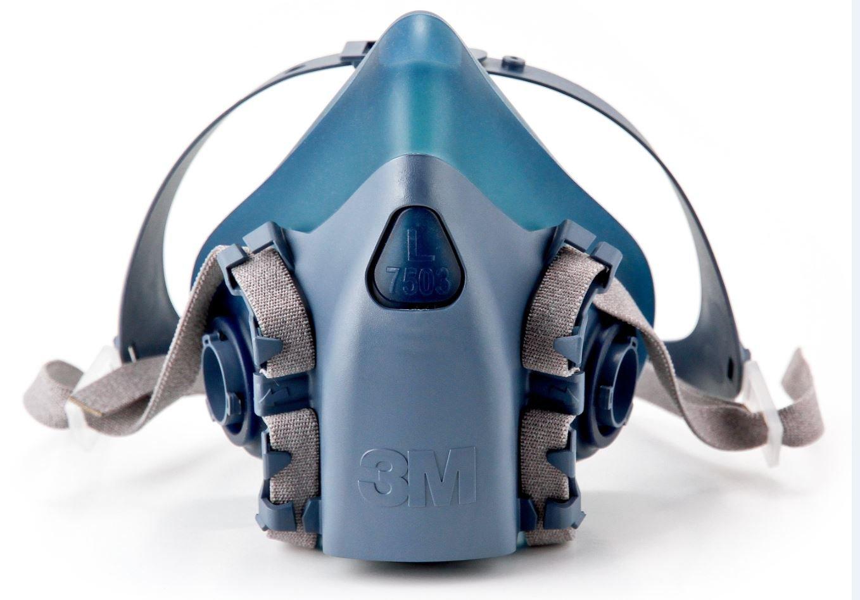 3M Large Half Facepiece Reusable Respirator 7503/37083(AAD), Respiratory Protection, Large