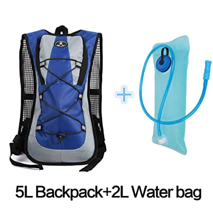 2L Water Bladder USA SHIP 5L Durable Waterproof Nylon Hiking Camping Backpack
