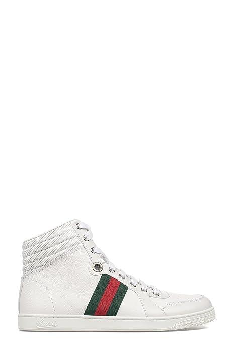 Gucci Hombre 221825ADFX09060 Blanco Cuero Zapatillas Altas: Amazon.es: Zapatos y complementos