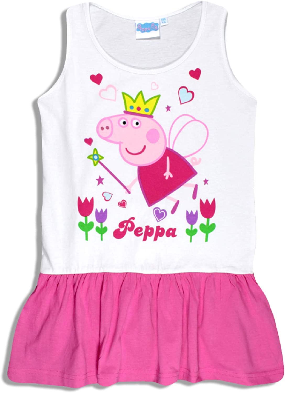 Cute Pepa Pig Summer Girls Dress Aged 2-8 Years Old