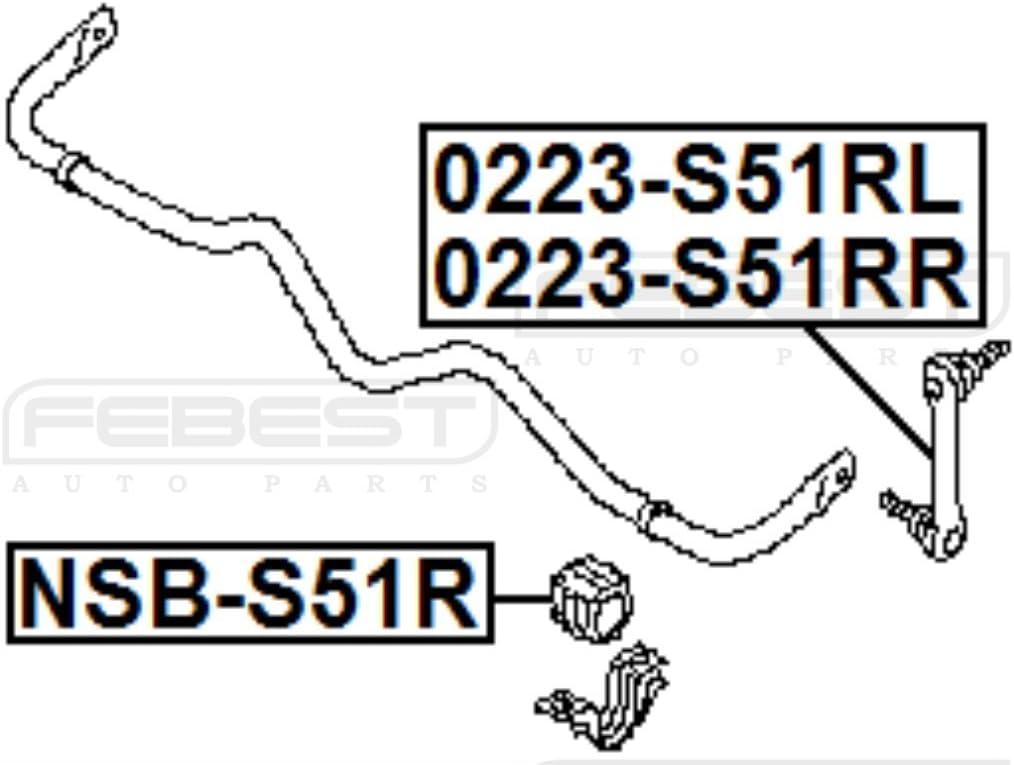 FEBEST NSB-S51R Rear Stabilizer Bushing