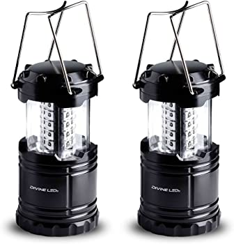 Divine LEDs Bright 2 Pack Portable LED Camping Lantern