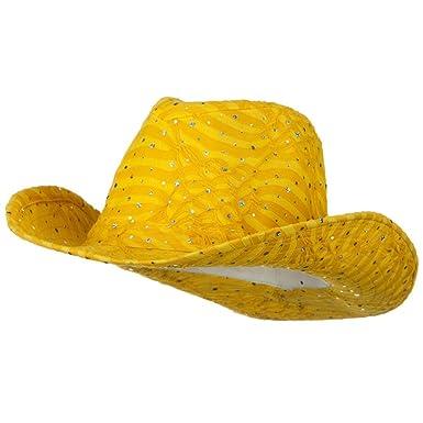 ebebb0b7229d7 SS Sophia Glitter Cowboy Hat - Yellow at Amazon Men s Clothing store ...