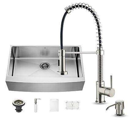 Wonderful VIGO 36 Inch Farmhouse Apron Single Bowl 16 Gauge Stainless Steel Kitchen  Sink With Edison Stainless