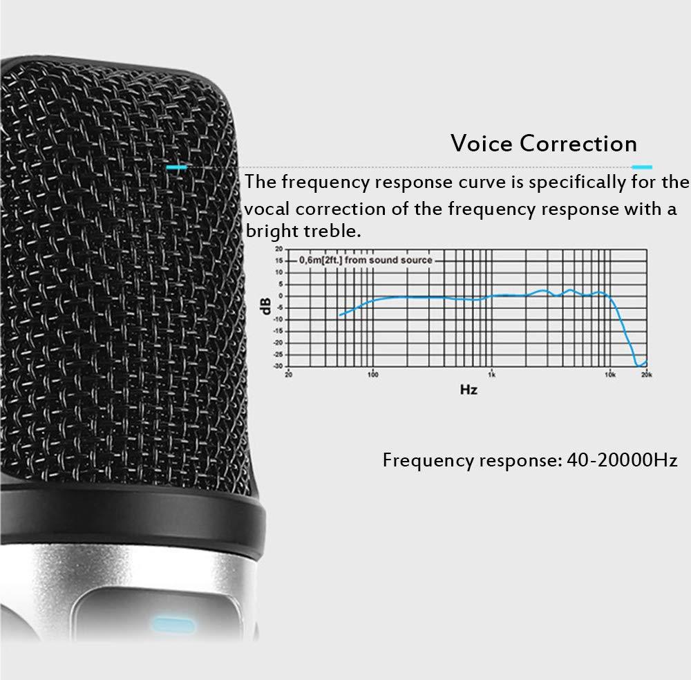 Micrófono de Condensador USB Viene con Tarjeta de Sonido para ...