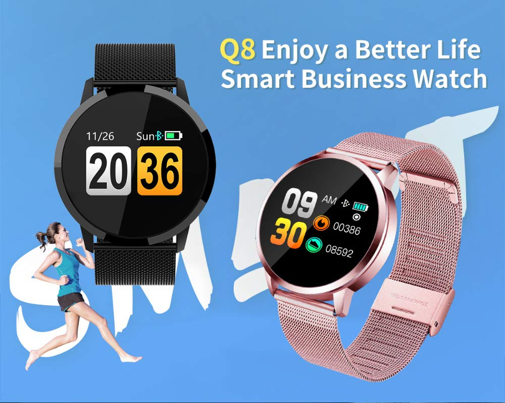 JingJingQi Rastreador de Ejercicios Q8 Smart Watch OLED ...