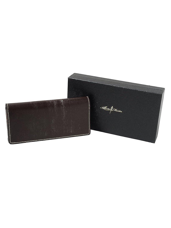 3a6e615f540e Amazon   (アルベルト マイスター) 唯一無二の革製品を作る 英国トーマスウェア社のブライドルレザーで仕立て上げた 長財布 (ブラック)    唯一無二の革製品を提供 ...