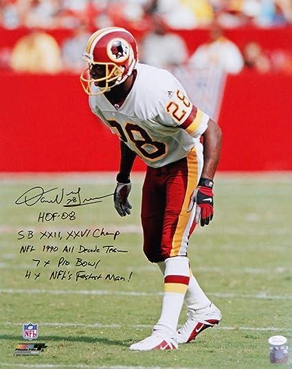 73a0b880e Autographed Darrell Green Photo - 16x20 PF On Field 5 Insc W Auth   - JSA
