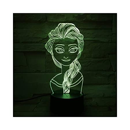 WBXYD Frozen Queen Light Illusion Lamp Lámpara de mesita de ...