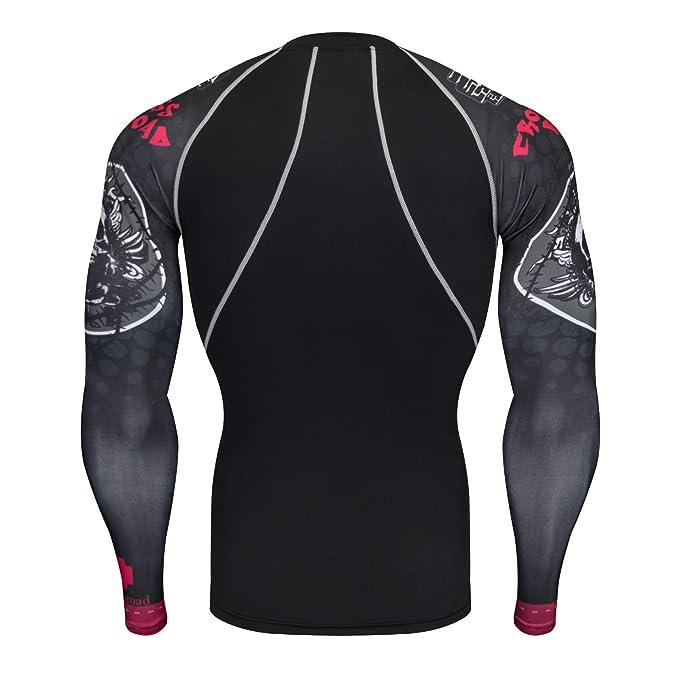 YanHoo Set Deportivo de impresión de los Hombres de Secado rápido Tops Deportivos Pantalones de Yoga de Fondo Conjunto Gimnasio Corriendo Yoga Ropa ...