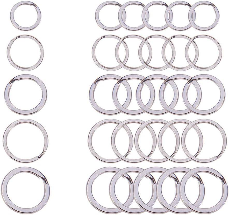 30 pcs Metal Split Key Rings Heavy Duty Car Key Chain Ring DIY Craft 20mm 40mm
