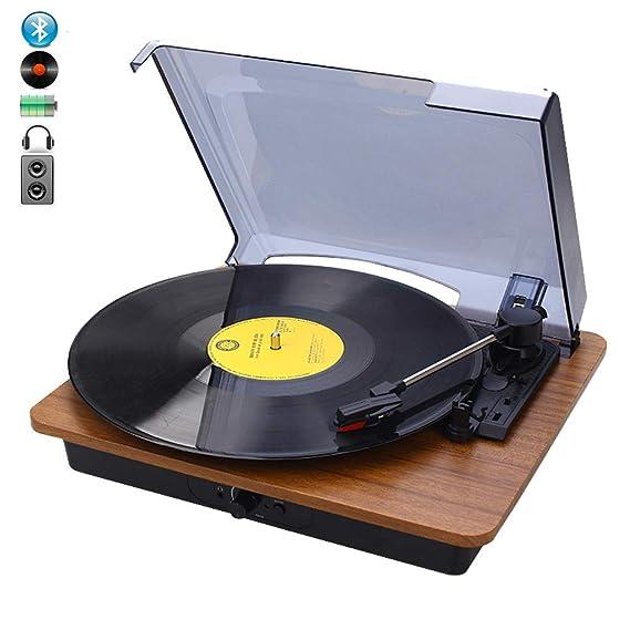 DNAN Reproductor de Discos de Vinilo Retro, batería ...