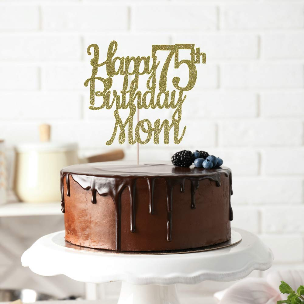 Miraculous Amazon Com Trendiconfetti Any Name Happy 75Th Birthday Cake Personalised Birthday Cards Veneteletsinfo