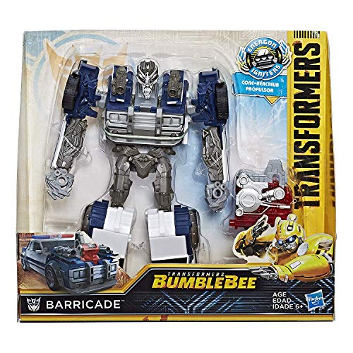 Hasbro Transformers Bumblebee Movie Energon Igniters Nitro Series - Barricade - Converts Between Robot and Police Car Modes in 9 Steps