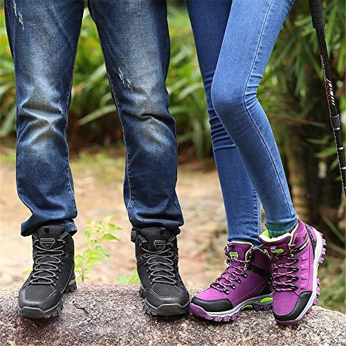 Trekking Rutsch und Leicht Bequem Schwarz 1 Outdoor BOLOG Sportlich Outdoor Wandern Wanderstiefel Damen Anti Herren Wanderschuhe pAnqROY