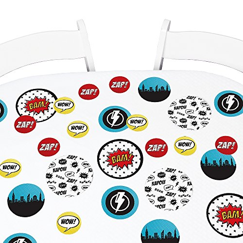 Big Dot of Happiness BAM! Superhero - Baby Shower or Birthday Party Giant Circle Confetti - Party Decorations - Large Confetti 27 -
